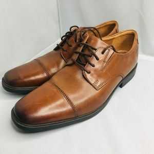 Clarks Tilden Cap Oxford - Men's Size 9M, Dark Tan